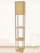 FUFU Floor Lamp Wooden Vertical floor lamp bedside living room bedroom study Creative floor lamp Bulb Included