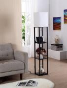 FUFU Floor Lamp Woody Cloth Vertical floor lamp Modern simplicity Bedroom living room study floor lamp Bulb Included