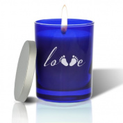 Carved Solutions Gem Love Footprint Votive Candle