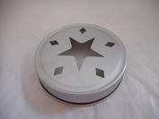 Star Mason Regular Lid Candle Topper -Silver 3 Pack