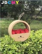 Portable round window soap flower box flower gift box creative flower box wedding party gift box