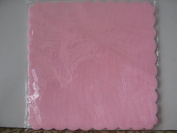 50-Piece Set of Tulle Squares for Wedding Favours, Pack of 50, 24 x 24 cm pink