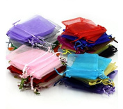KOTiger Approx.100 Pcs Organza Drawstring Pouches Gift Bags Accessories