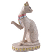 Pengmma Ancient Egyptian Cat Statue Sculpture Hand Carved Figurine