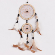 Grass rope dreamcatcher,Car pendant Crafts Wind Chimes Feather home decorations