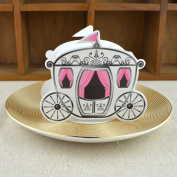 50pcs Creative Fairy Tale Pumpkin Carriage Shape Candy Box and Sweets Packaging Gift Boxes for Wedding Party