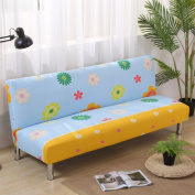 Sofa bed slipcovers with 3 Cushion,Surefit sofa covers stretch, Stain resistant anti-Slip armless sofa protector 3 Seats couch for living room -P 160cm - 190cm