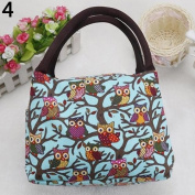 Good01 Owl Pattern Thermal Insulated Lunch Bag Food Fruit Storage Handbag Tote Pouch