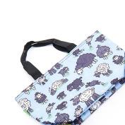 Eco Chic Sheep Print Cool Bag Blue