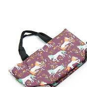 Eco Chic Unicorn Print Cool Bag Coffee