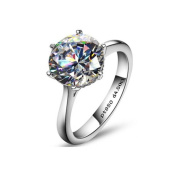 Victoria 4CT Round Cut IOBI Cultured Diamond Solitaire Ring 8 / Platinum