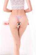 XW-atxsThong underwear pants T transparent gauze female system,Pink