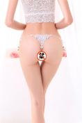 XW-atxsThong underwear pants T transparent gauze female system,white