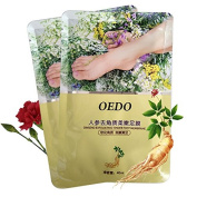 Yiwa Foot Mask 2Pcs/Bag Ginseng MaskRemove Dead Skin Cuticles Heel Peeling Tender Foot Whitening Beauty Feet Care Cream