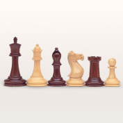 Deluxe Staunton Chessmen, Triple Weighted and Handpolished Rosewood with 10cm King