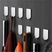 8pcs 304 Stainless Steel Hooks, Self Adhesive 3M Wall Hooks for Keys Towel Hats Organising