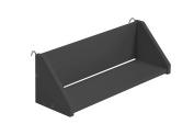 "Design Vicenza ""Goro"" Large Reversible Clip On Shelf, Wood, Graphite"