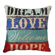 Creative Retro Beige Style Pillow cover Continental Mediterranean pillow Cushion 45x45cm/18x18inch