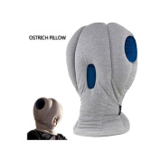 Ostrich travel neck pillow filling pp cotton comfortable soft for aircraft, train, office nap height 50cm [grey]