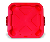 Rubbermaid Commercial BRUTE Trash Can Lid, Red, FG352900RED