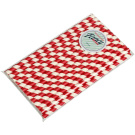 Biodegradable Smoothie Red and White Stripe 8mm x197mm Paper Drinking Straws - 25 Pack
