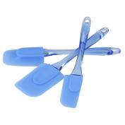3 Pcs Transparent Blue Silicone Pastry Scraper Silicone Pastry/Cake Knife Kitchen Utensils