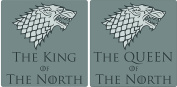 Set of 2 Matching King of the North & Queen Of The North Coasters