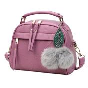 Waterproof Women Shoulder Bag, Xinantime Fashion Tote Purse Bag Leather Shoulder Bag (Purple, 22cm(L)*18(H)*11cm