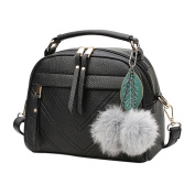 Waterproof Women Shoulder Bag, Xinantime Fashion Tote Purse Bag Leather Shoulder Bag (Black, 22cm(L)*18(H)*11cm