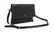 Mala Leather TUDOR Collection Leather Shoulder Bag 7117_88 Black