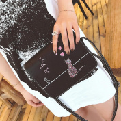 HCFKJ Fashion Women Messenger Hobo Cute Cat Printing Handbag Bags Small Shoulder Bags Girls