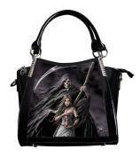 ANNE STOKES 3D Large Hand Bag Black PVC Goth Skeleton 'Summon The Reaper'