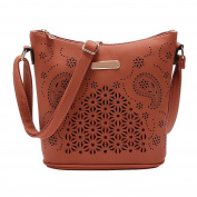 Quistal Women's Handbags Ladies Tote GirlsTop-Handle Bags Fashion Shoulder Bags Hollow Out Crossbody Shoulder Messenger Bag