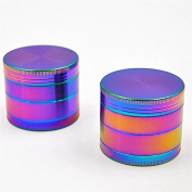 50mm Ice Magic Metal Rainbow Dazzle Colour Herb Crusher Grinder Tools Zinc Alloy
