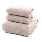X & Y Long-Staple Cotton Plain 2 Towels + 1 Bath Towel Flat Cloth Seams Three Combinations