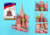 DARON ST BASILS CATHEDRAL 3D PUZZLE WITH BOOK 214 PCS