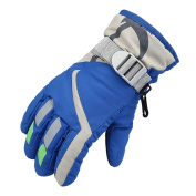 Waterproof Winter Skiing Snowboarding Gloves Warm Mittens For Kids Full-Finger Gloves Strap for Sports, Skiing, Cycling
