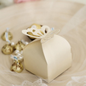 100Pcs European style butterfly pearl paper creative personality wedding candy box Candy Gift Box Birthday Candy Box Party gift box