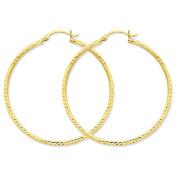 14K Yellow Gold Hollow Tube Hoop Earrings - 45mm