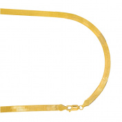 14k Solid Yellow Gold Herringbone Bracelet 18cm Lobster Claw Clasp