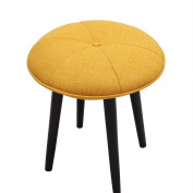 QFFL Solid wood shoes stool low stool Cloth sofa stool Designer stool Simple stool 2 colours available Size optional Outdoor stool