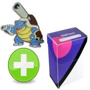 Pokemon Mega Blastoise Pin with Master Ball TopDeck Deck Box