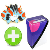 Pokemon Mega Swampert Pin with Master Ball TopDeck Deck Box