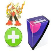 Pokemon Mega Blaziken Pin with Master Ball TopDeck Deck Box
