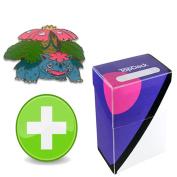 Pokemon Mega Venusaur Pin with Master Ball TopDeck Deck Box