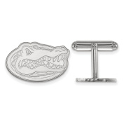 Sterling Silver Men's University Of Florida Gators Cuff Links - 15X24Mm