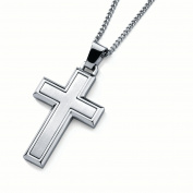 Men's Stainless Steel Cross Pendant Necklace, 60cm