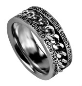 SERENITY PRAYER Bible Quote, Stainless Steel Chain Spinner Ring