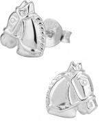 Hypoallergenic Sterling Silver Horse Stud Earrings for Kids