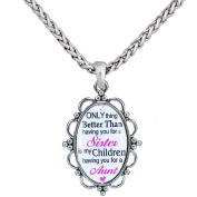 Only Thing . Sister Children Aunt Silver Plate 80cm Necklace Jewellery Gift
